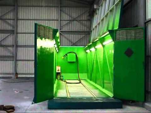 cabina de chorro container port til con apertura