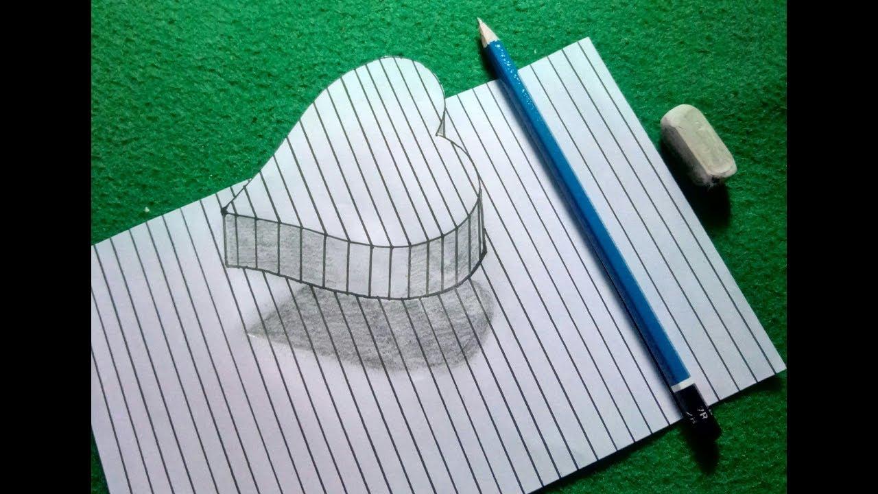 Cara Menggambar 3d Contoh Gambar Benda 3 Dimensi Pensil ...