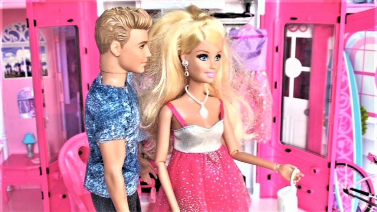 Barbie Doll Bathroom Pink Bedroom Dollhouse Toy Play