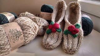 Вязаные тапочки Vivchari (Easy slippers)