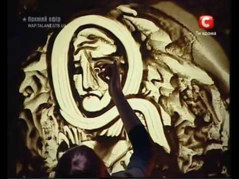 Artist Kseniya Simonova Sand Animation Ukraine S Got Talent 2009 Winner