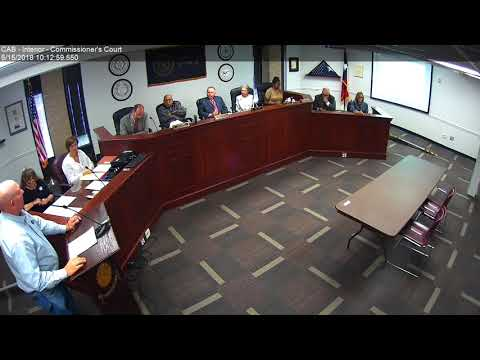 Brazos County Commissioners Court 05-15-18