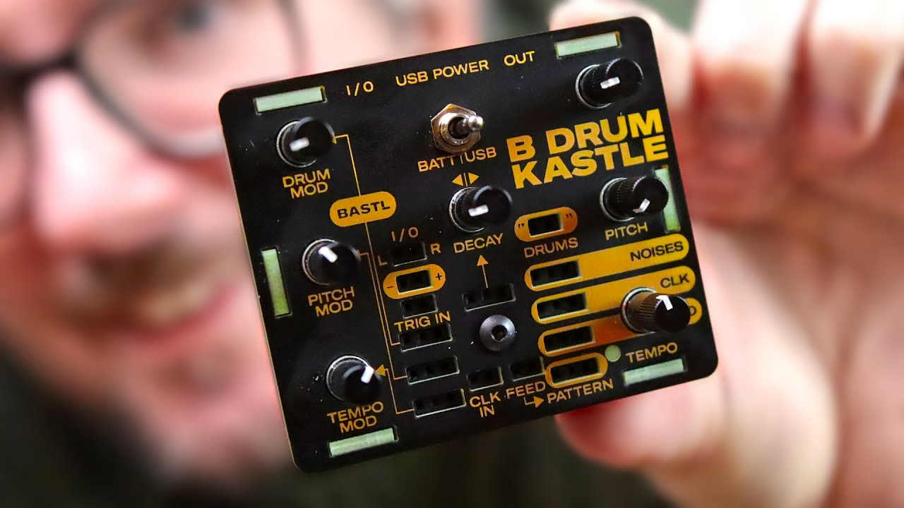 A TINY MODULAR DRUM SYNTH // Bastl Kastle Drum mini review