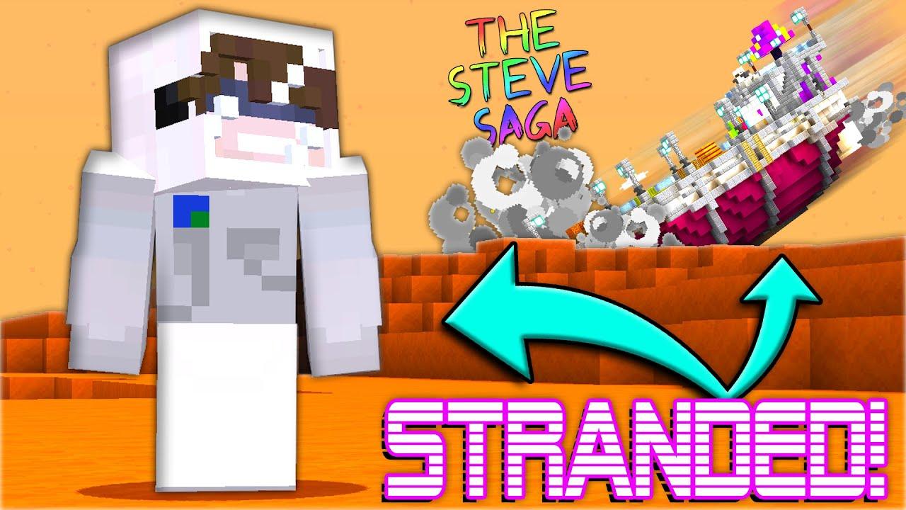 I Crash landed on a MYSTERIOUS Planet.. - Minecraft Steve Saga