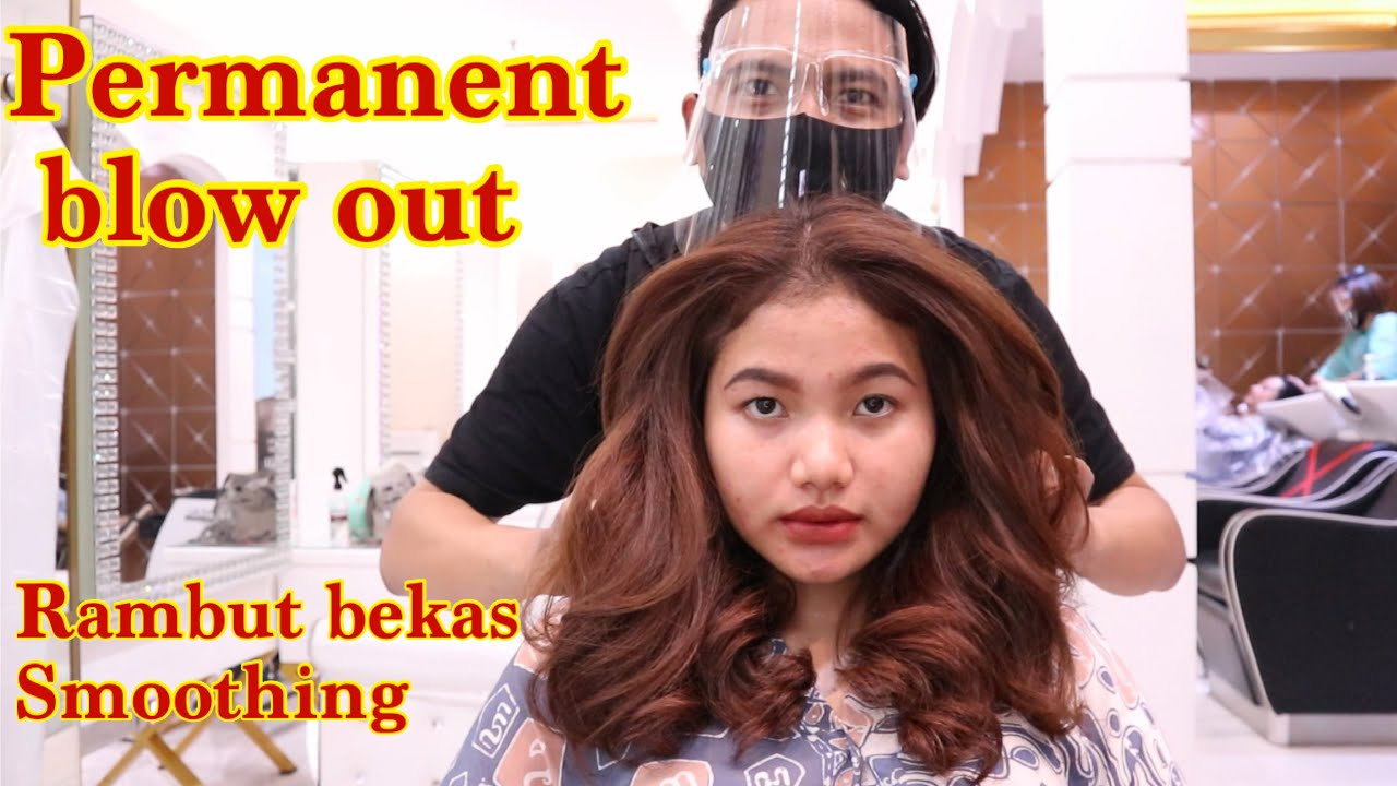 Permanent Blow Out On Sensitive Hair Youtube