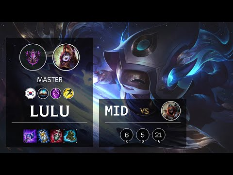 Lulu Mid vs Zed - KR Master Patch 10.14