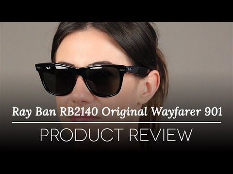 rb2140 901 54 18 3n  Ray Ban RB 2140 901 54/18 Black Plastic Wayfarer - YouTube