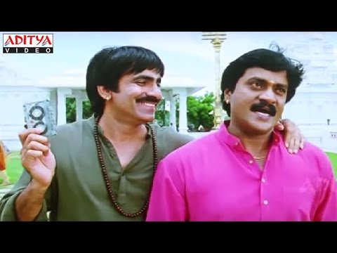 Sunil And Ravi Teja Temple Comedy Scene in Khallas Hindi Movie