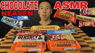 [ASMR] MASSIVE CHOCOLATE FEAST(REESES BUTTER CUP PLUS MUCH MORE)-SOFT CHEWING SOUNDS+CRUNCHY