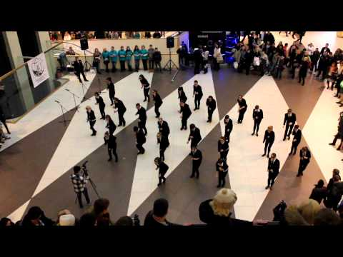 flashmob 'men in black' 01.12.12