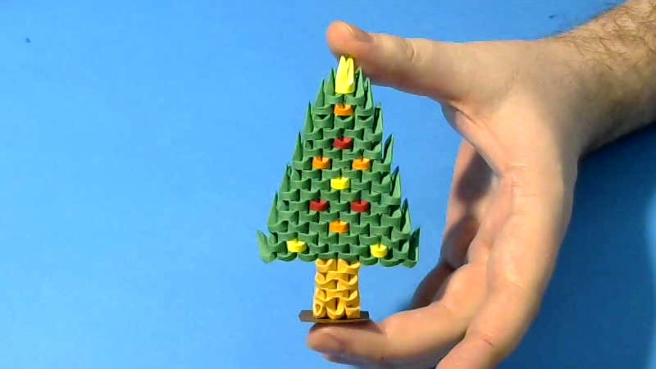 how to make 3d origami small christmas tree youtube - Small Christmas Tree