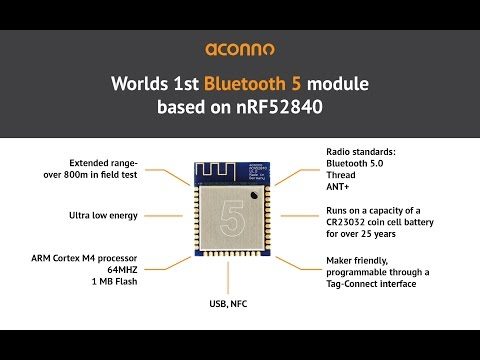 Aconno BT5 Module based on nRF52840 - YouTube