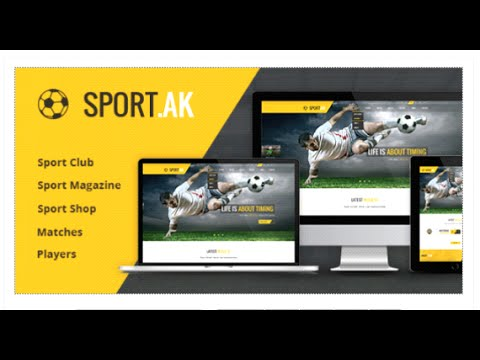 Sport.AK — Soccer Club And Sport HTML Template - Site Templates Download