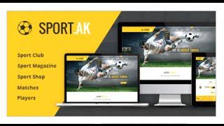 الرياضة.AK — نادي كرة القدم و الرياضة قالب HTML - قوالب موقع تحميل