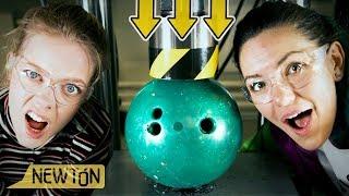 Klarer vi å knuse ei bowlingkule?