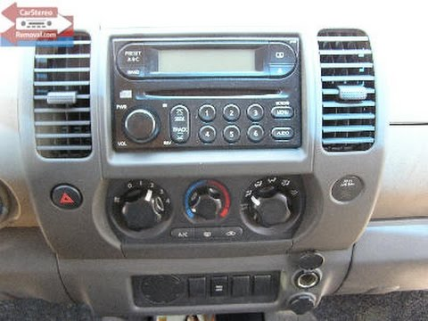 Nissan Xterra Car Stereo Removal - YouTube