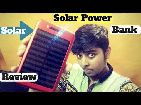 Solar power bank unboxing and review in hindi