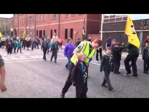 Bury St George's Scout & Guides parade 2012