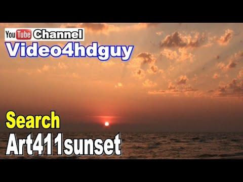 Sunset HD Screensaver peaceful ocean relaxing, nature sound Video SS02 | art411sunset™  art411ocean™