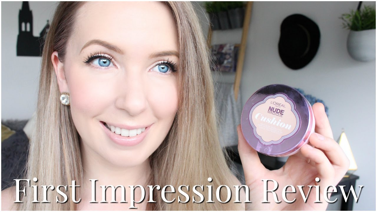 L Oreal Nude Magique Cushion Foundation First Impression Review For Pale Skin