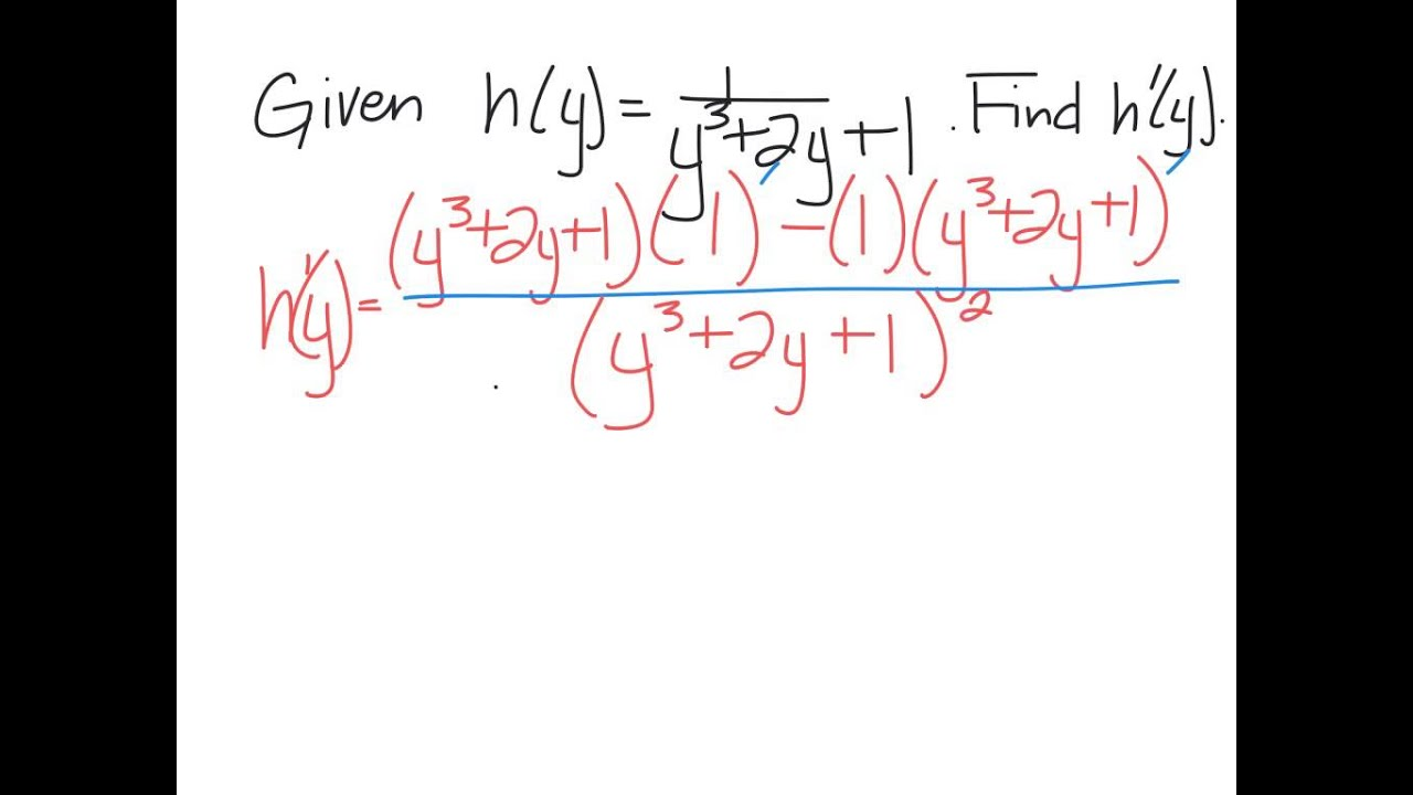 Product And Quotient Rule Worksheet 3 Youtube