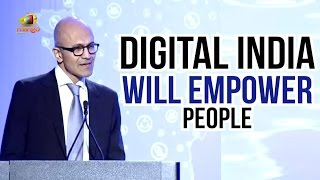 Satya Nadella Speech | Digital India Will Empower People | Silicon Valley | Mango News