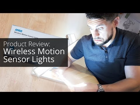 Product Review | Amir Wireless Motion Sensor Lights from Amazon | Motion activated LED night lights