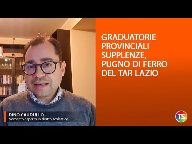 Graduatorie provinciali supplenze, pugno di ferro del Tar Lazio