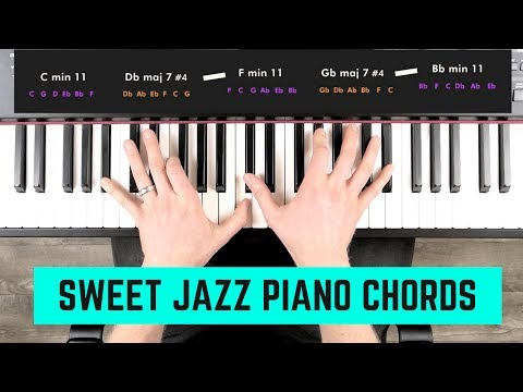 SWEET JAZZ PIANO CHORDS   3 'Kenny Barron Style' Progressions