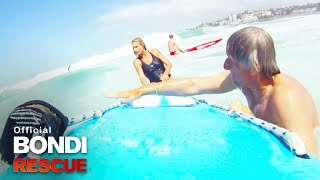 Nicola battles 10 foot swells | Bondi Rescue | S10