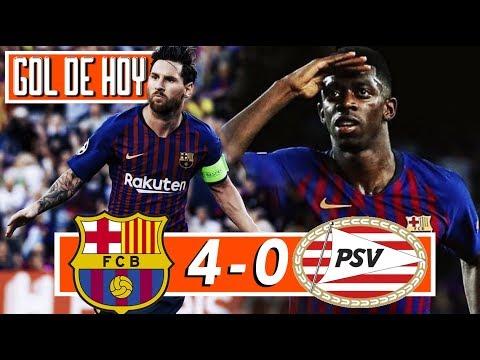 BARCELONA 4 PSV 0 I Hat-trick de Messi I Champions League