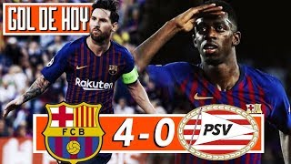 BARCELONA 4 PSV 0 I Hat-trick de Messi I Champions League