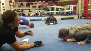 Совместная тренировка Головкина и Богачука