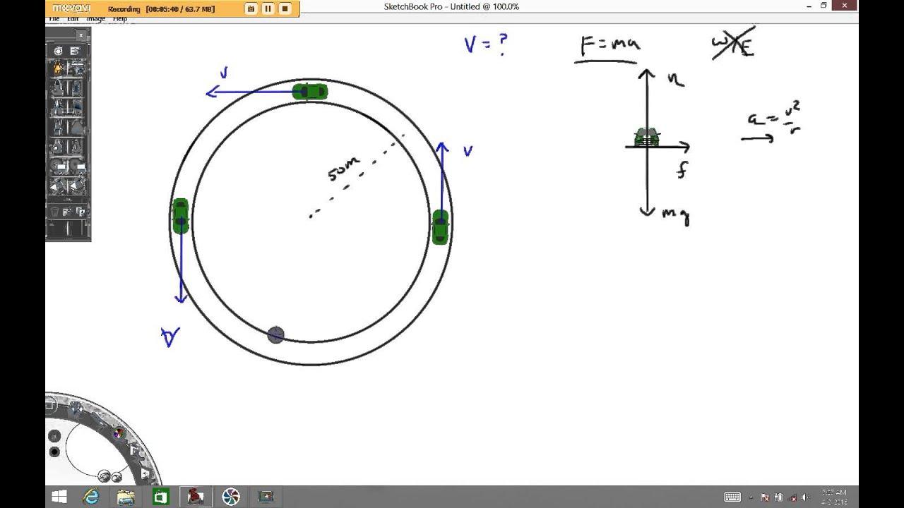 circular motion example - YouTube