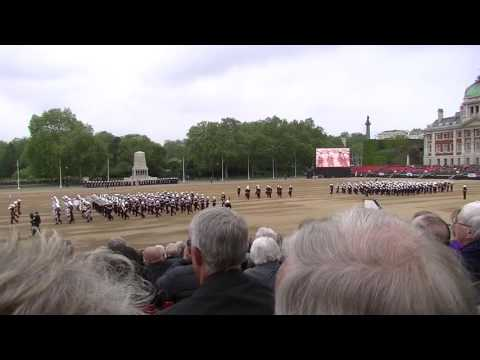 Massed Bands of HM Royal Marines: Beating Retreat 2016 Full Performance