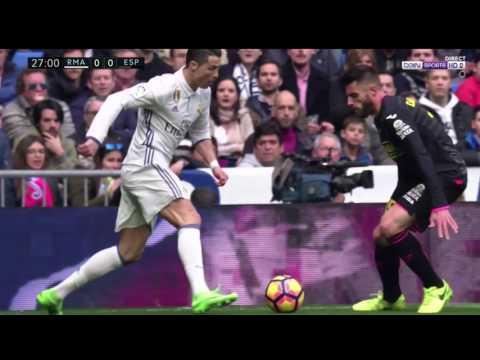 Cristiano Ronaldo Elastico Skill On Rcd Espanyol Player David Lopez