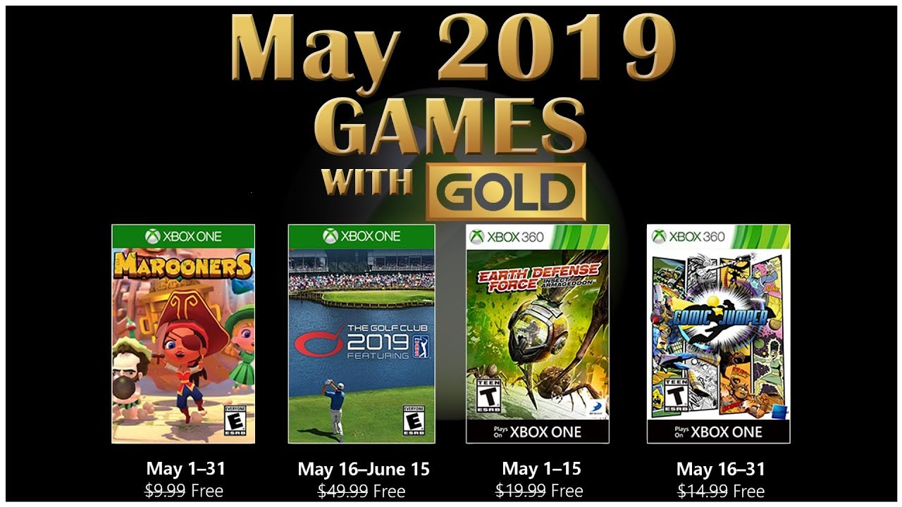 Xbox Live Games With Gold May 2019 Youtube