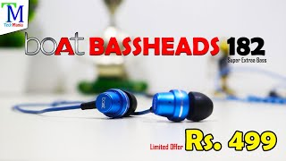 boAt BASSHEADS 182 Unboxing and Review in Hindi | Super Extra Bass in Rs. 499 Only.