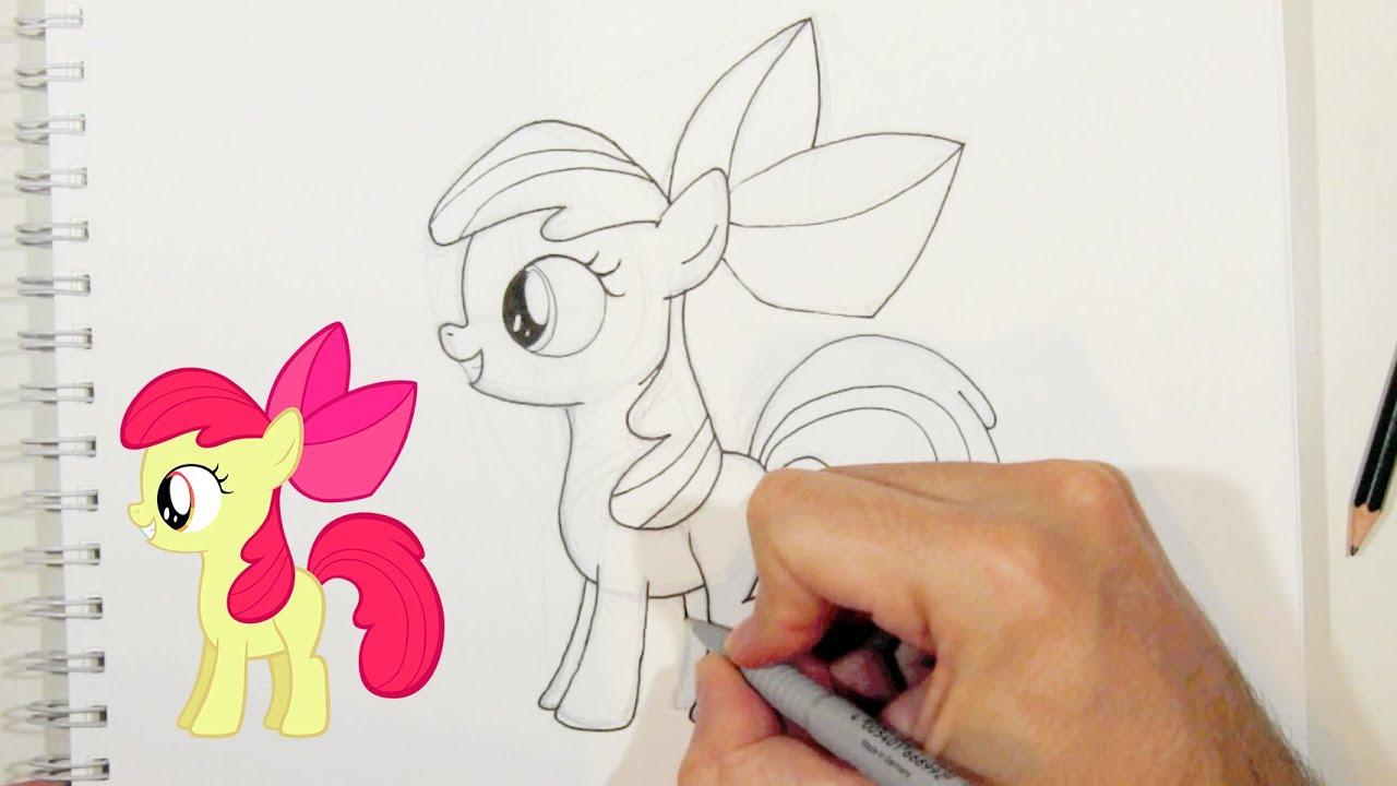 Comment dessiner apple bloom du mon petit poney my - My little pony en dessin anime ...