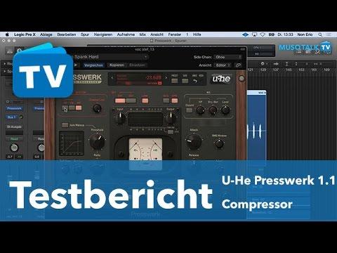 Test - U-he Compressor Plug-in Presswerk 1.1 - deutsch