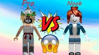 NOOB VS PRO NO ROBLOX!!!