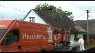 Renovace staré eternitové střechy