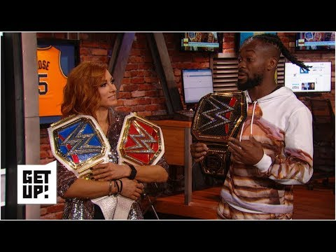 wwe-champions-becky-lynch-and-kofi-kingston-in-awe-after-wrestlemania-35-wins-|-get-up!