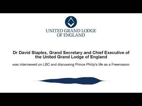 Dr David Staples, Grand Secretary and CEO of UGLE on Prince Philip's past in Freemasonry