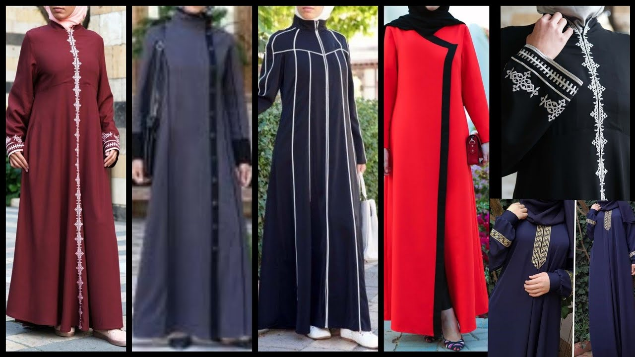 Simple New Dubai Abaya Designs 2019/2020, Burka Fashion, Arabic Hijab Style