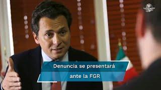 El titular de la UIF, Santiago Nieto, afirmó que está denuncia se relaciona con contratos que Pemex adjudicó a Odebrecht durante la administración de Lozoya