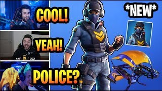 NINJA & STREAMERS REACTS TO *NEW* WAYPOINT SKIN & HYPER GLIDER! FORTNITE BEST MOMENTS