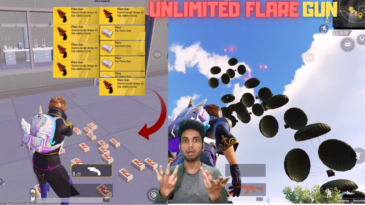 Download I Got Unlimited Flare Gun In New Traverse Insectoid Mode Pubg Mobile New Update