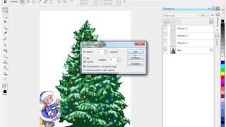 Анимация новогодней ёлки в Corel PHOTO-PAINT