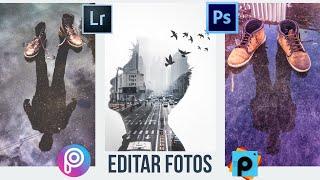 Como hacer este tipo de fotos sorprendentes en picsart y photoshop, tutorial